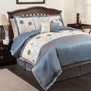 Lush Decor Monica Blue 6-piece Comforter Set