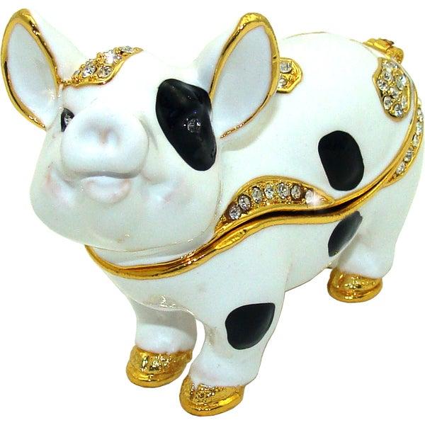Objet d'art 'Oink Oink' Pig Trinket Box