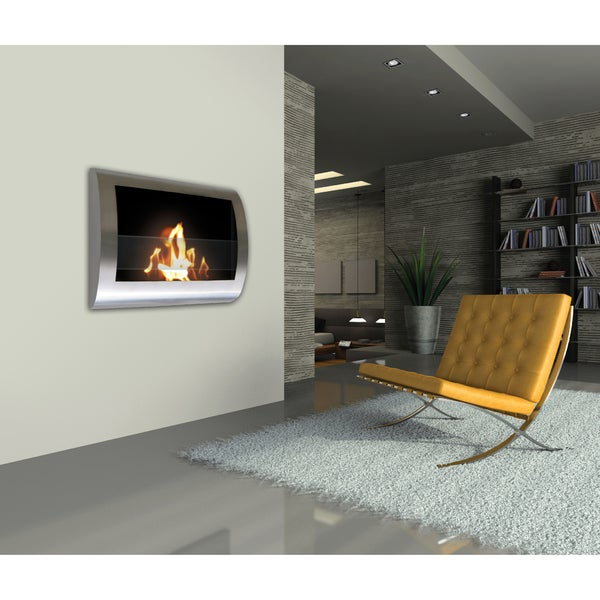 Anywhere Stainless Steel Bio-ethanol Fireplace