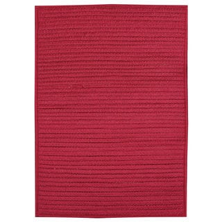 Nautical Red Braided Rug