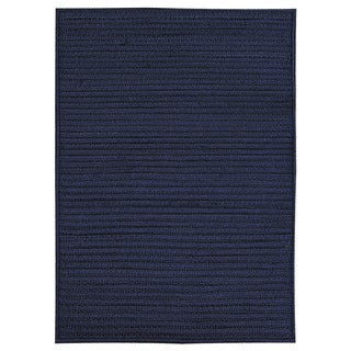 Nautical Navy Braided Rug