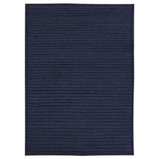 Nautical Navy Indoor/ Outdoor Braided Rug (2'3 x 4')