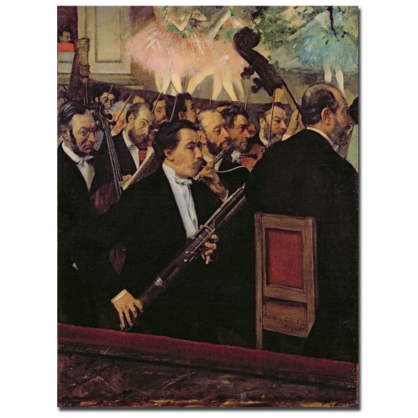 Edgar Degas 'The Opera Orchestra, 1870' Canvas Art