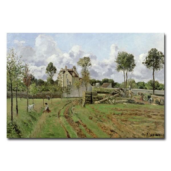 Camille Pissarro 'Louveciennes, 1872' Canvas Art