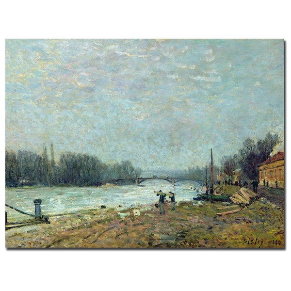 Alfred Sisley 'The Thaw, 1880' Canvas Art