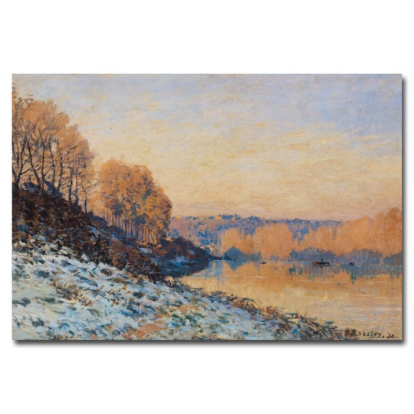 Alfred Sisley 'Port-Marly, White Frost, 1872' Canvas Art