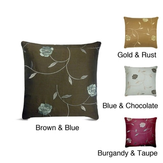 Annabelle Embroidered Feather/ Down Decorative Pillow
