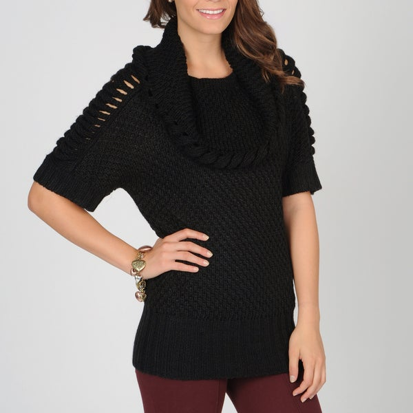 AnnaLee + Hope Women's Cowl Neck Chunky Sweater
