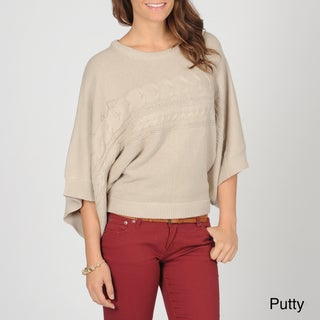 AnnaLee + Hope Women's Cable Knit Dolman Sweater
