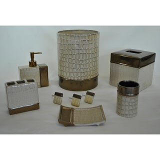 It's A Croc Natural 7-piece Bath Accessory Set