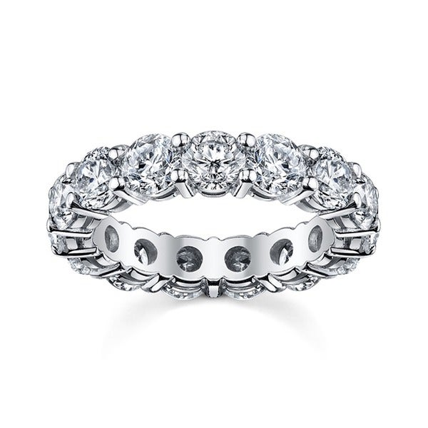 14k White Gold 2 1/2ct TDW Round Diamond Eternity Wedding Band (H-I, I1-I2)