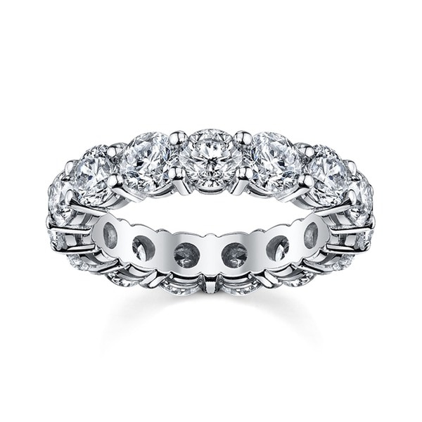 14k White Gold 2 1/2ct TDW Round Diamond Eternity Band (H-I, I1-I2)