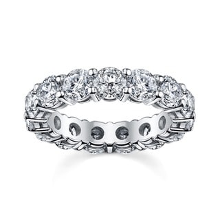 14k White Gold 2 1/2ct TDW Round Diamond Eternity Band (SI1-SI2)