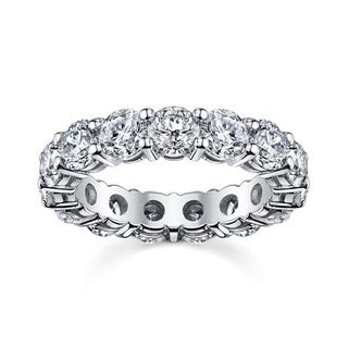 14k White Gold 2 1/2ct TDW Round Diamond Eternity Wedding Band