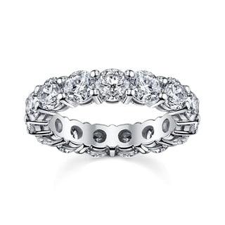 14k White Gold 2 1/2ct TDW Round Diamond Eternity Wedding Band (H-I, I1-I2)