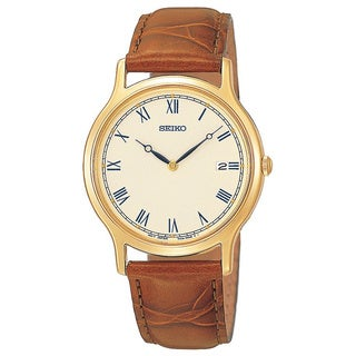 Seiko Men's Goldtone Stainless Steel Date Watch