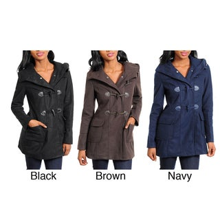 Stanzino Women's Hooded Coat with Toggle Closure