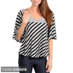 Stanzino Women's Striped High-Low Top