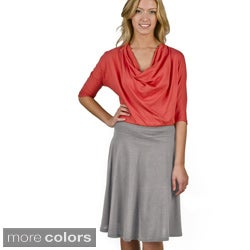 AtoZ A-Line Cotton Skirt
