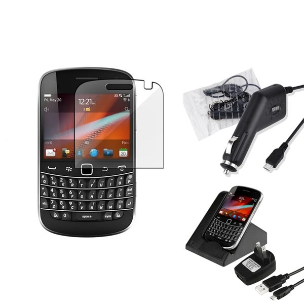 BasAcc Case/ Screen Protector/ Charger for BlackBerry Bold 9900/ 9930