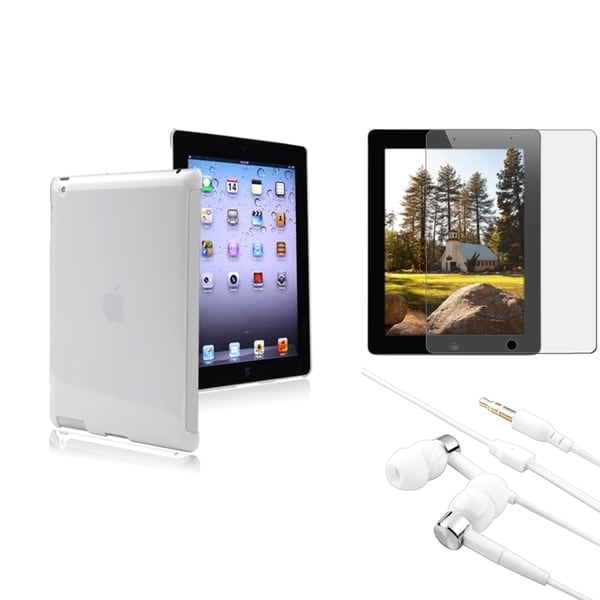 BasAcc BasAcc Case/ Anti-glare Screen Protector/ Headset for Apple® iPad 2/ 3/ 4