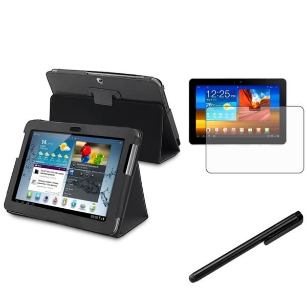INSTEN Synthetic-Leather Tablet Case Cover/ Screen Protector/ Stylus for Samsung Galaxy Tab 2 10.1