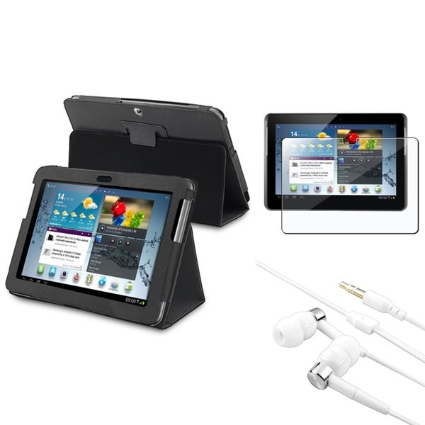 INSTEN Tablet Case Cover/ Screen Protector/ Headset for Samsung Galaxy Tab 2 10.1