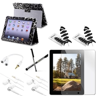 BasAcc BasAcc Black/ White Leopard Print Case/Protector/ Film for Apple iPad 2/ 3/ 4