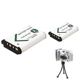 BasAcc Mini Tripod/ Li-ion Battery for Sony NP-BX1