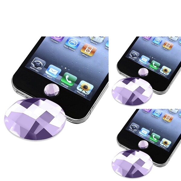BasAcc Home Button Stickers for Apple® iPhone/ iPod/ iPad (Pack of 3)