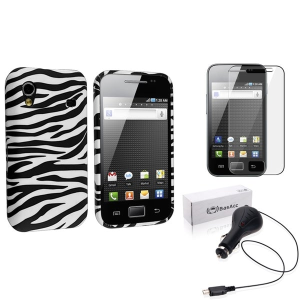 INSTEN Phone Case Cover/ Screen Protector/ Charger for Samsung Galaxy Ace S5830