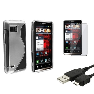 BasAcc Case/ Screen Protector/ Cable for Motorola Droid Bionic XT875