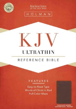 Holy Bible: King James Version, Chocolate Leathertouch, Ultrathin Reference Bible (Paperback)