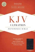 Holy Bible: King James Version, Black Genuine Leather, Ultrathin Reference (Paperback)