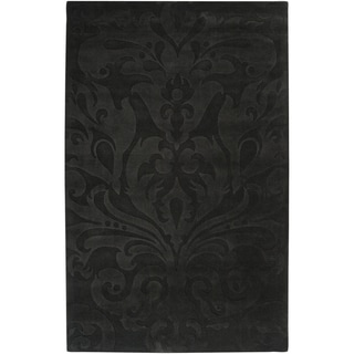 Candice Olson Loomed Carlsbad Damask Pattern Wool Rug