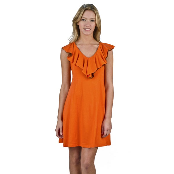 AtoZ Ruffle A-Line Dress