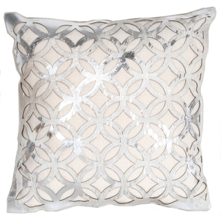 Marlo Lorenz Trace Laser Leather 16-inch Decorative Pillow