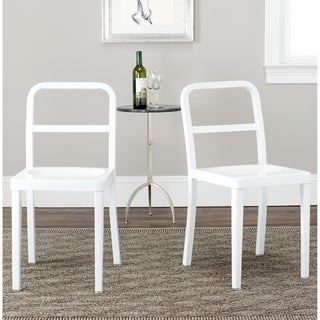 Safavieh Kastra White Side Chairs (Set of 2)