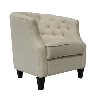 Cambridge White Fabric Accent Chair