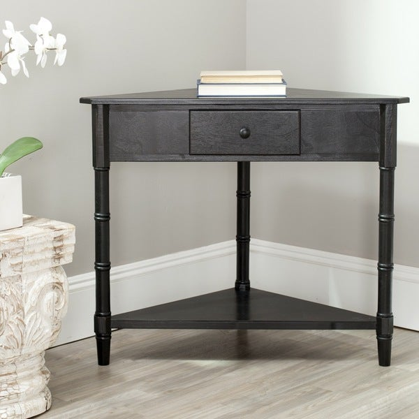 Safavieh Gomez Black Corner Table - 14846593 - Overstock.com Shopping - Great Deals on Safavieh ...