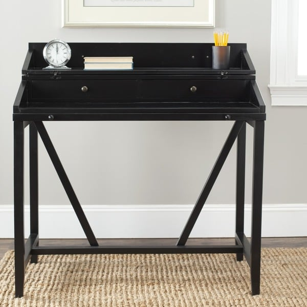 Safavieh Wyatt Black Writing Desk 14846596 Overstock