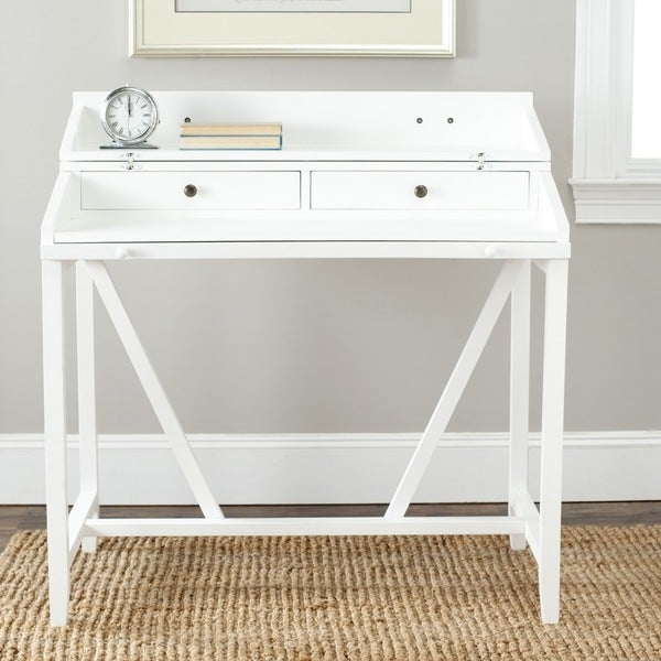 Safavieh Wyatt White Writing Desk 14846598 Overstock