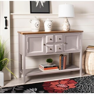 "Safavieh Charlotte Grey Storage Sideboard - 45.7"" x 15"" x 34"""