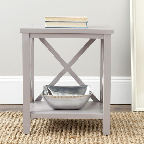 Safavieh Cadence Grey Cross Back Table