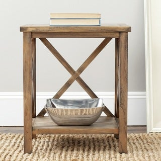 Safavieh Cadence Oak Cross Back Table