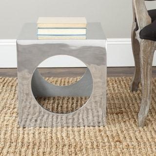 Safavieh Tellurium Silver Cube Stool