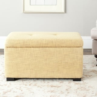 Safavieh Maiden Gold Tufted Storage Bench