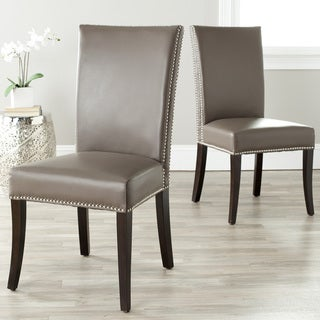 Safavieh Metro Clay Leather Side Chairs (Set of 2)