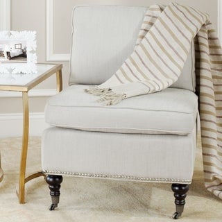 Safavieh Randy Beige Armless Club Chair