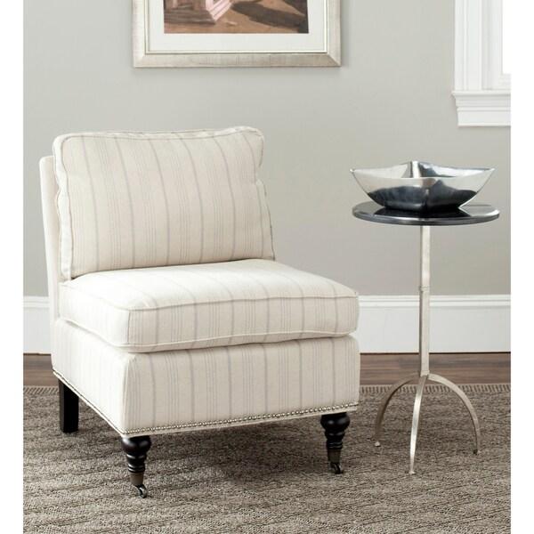 Safavieh Randy Beige Stripe Armless Club Chair